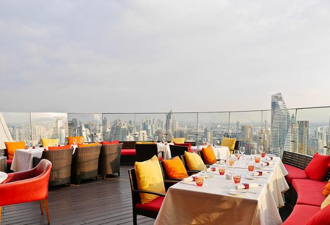 曼谷高空酒吧 | Red Sky Bar  55楼360度高空景观餐厅!